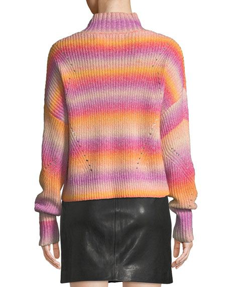 Brinkley Mock-Neck Ombre Pullover Sweater