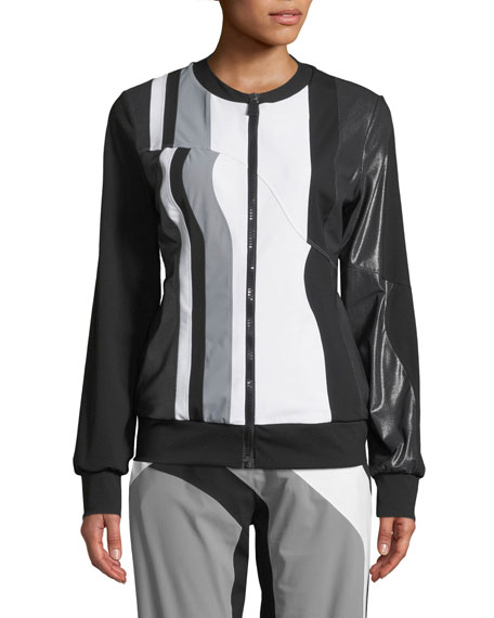 No Ka Oi Nola Colorblock Zip-Front Track Jacket
