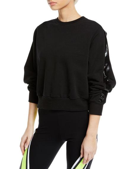 No Ka Oi Ike Cropped Side-Stripe Pullover Sweatshirt