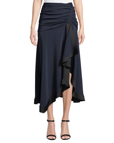 Yolanda Ruched & Draped Skirt