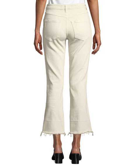 AMO Denim Bella High-Rise Flare-Leg Jeans with Released Hem
