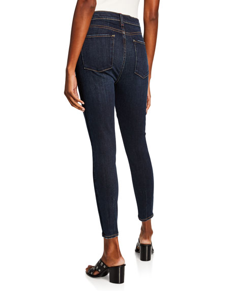 ALICE + OLIVIA JEANS Good High-Rise Exposed Button Skinny Jeans