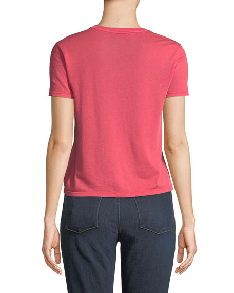ALICE + OLIVIA JEANS Cicely Classic Graphic Tee