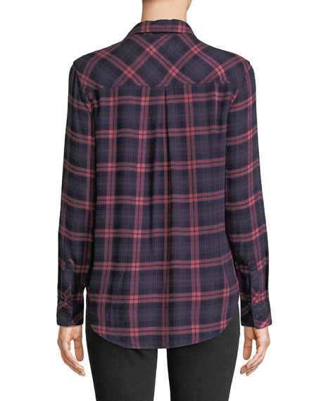 Rails Hunter Long-Sleeve Plaid Button-Front Top