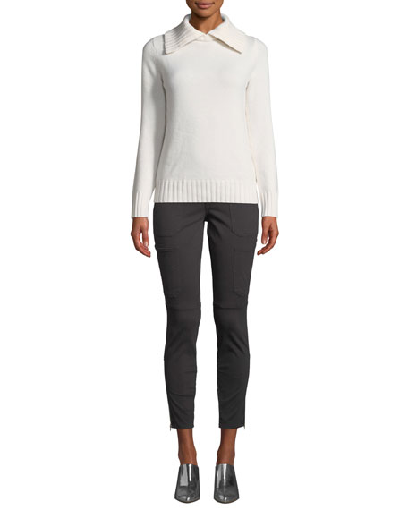 J Brand Skinny Mid-Rise Ankle Utility Pants