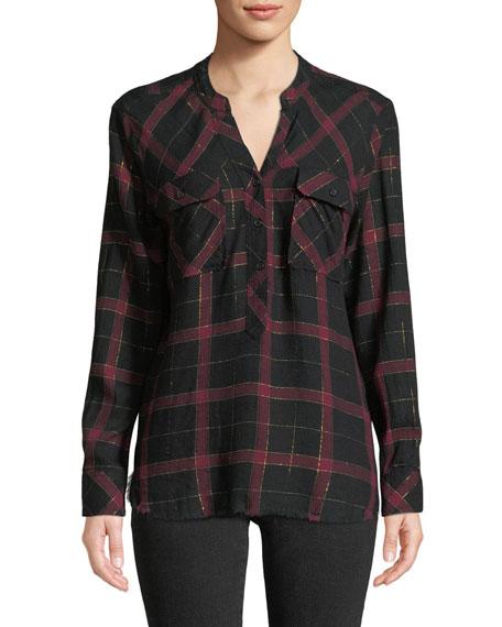 Rails Redding Frayed Plaid Button-Down Shirt