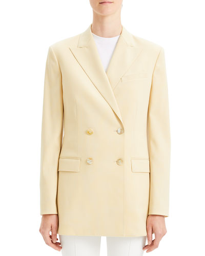 Double-Breasted Tailored Wool Blazer