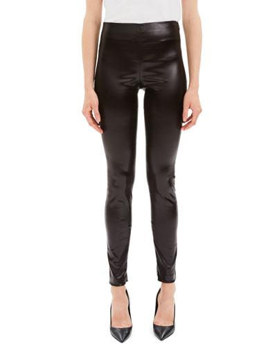 Skinny Chintz Faux-Leather Stretch Leggings