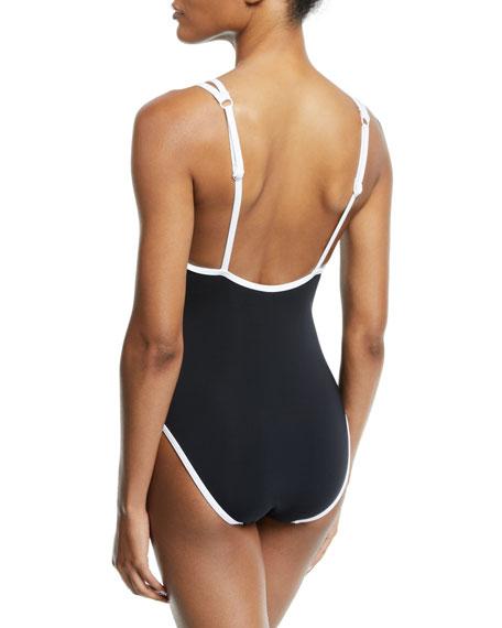 JETS by Jessika Allen Classique Double-Strap Tank One-Piece Swimsuit