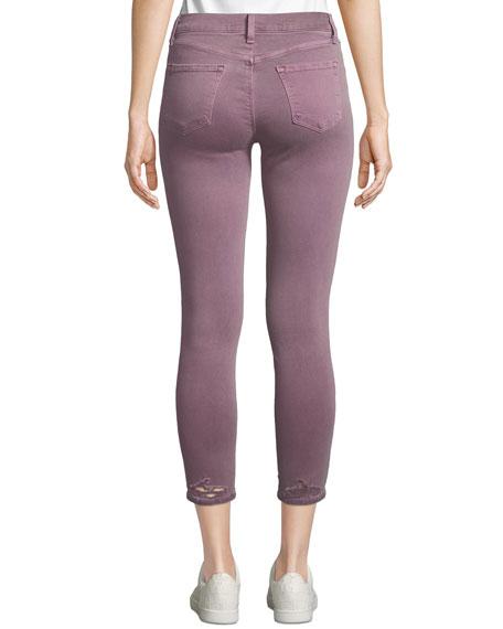 J Brand 835 Mid-Rise Capri Destructed Jeans