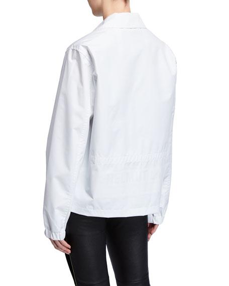 Helmut Lang Stadium Recycled Snap-Front Logo Jacket