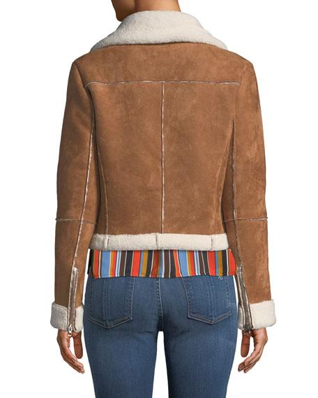 ASTR Quincy Faux-Suede Moto Jacket