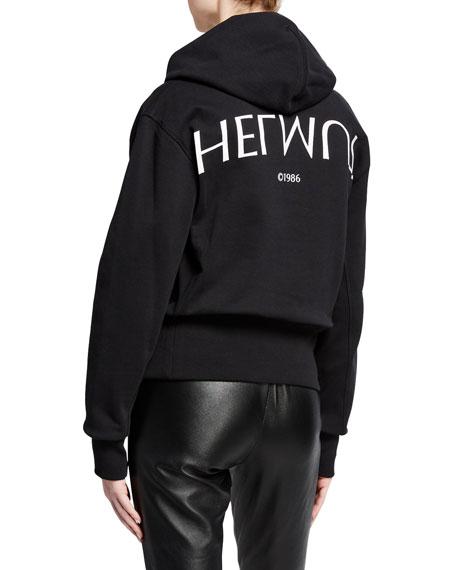 Helmut Lang Logo Hack Cotton Pullover Hoodie