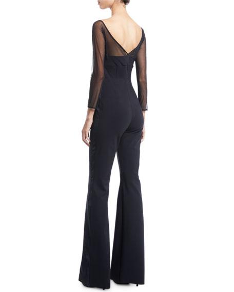 Chiara Boni La Petite Robe Eke Long-Sleeve Illusion Jumpsuit