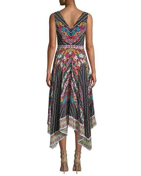 Zuri Printed Sleeveless V-Neck Dress