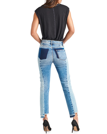 Hudson Zoeey High-Rise Straight Cropped Jeans with Front Yoke