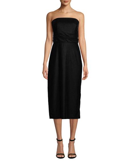 Shoshanna Roxford Strapless Velvet Dress