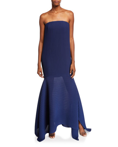 Rhine Strapless Asymmetrical Cocktail Dress