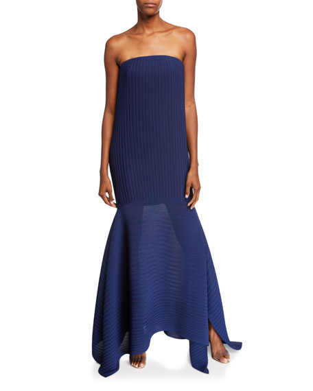 Solace London Rhine Strapless Asymmetrical Cocktail Dress