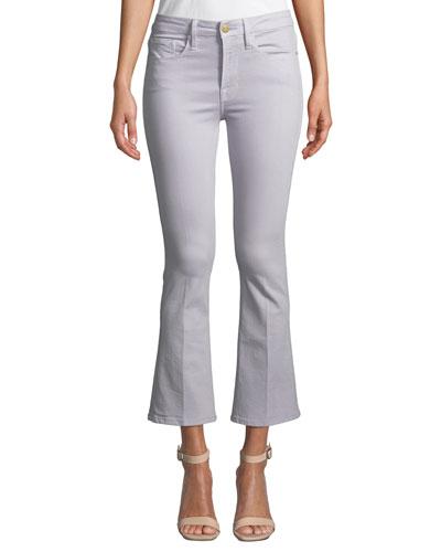 Le Crop Mini Boot-Cut Jeans