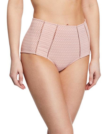 Jonathan Simkhai Linings Lace High-Waist Bikini Swim Bottoms