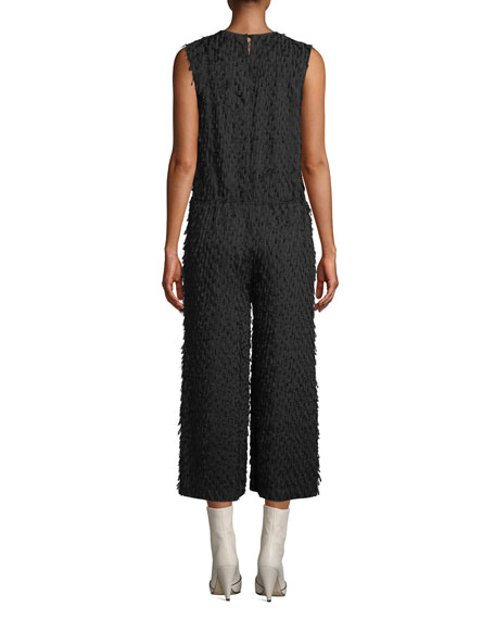 Christian Wijnants Oani Shaggy Fringe Straight-Leg Jumpsuit
