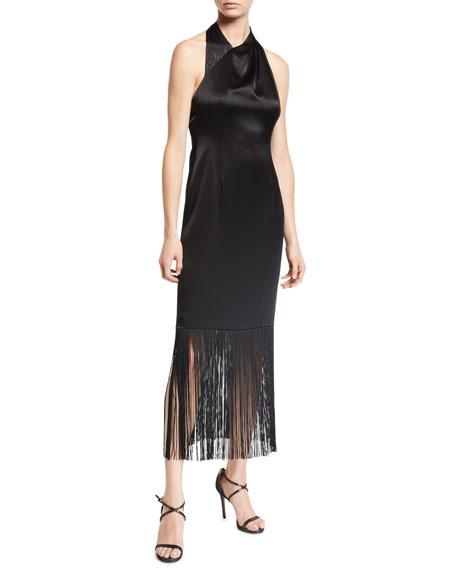 Jill Jill Stuart Nina Fringe Halter Dress