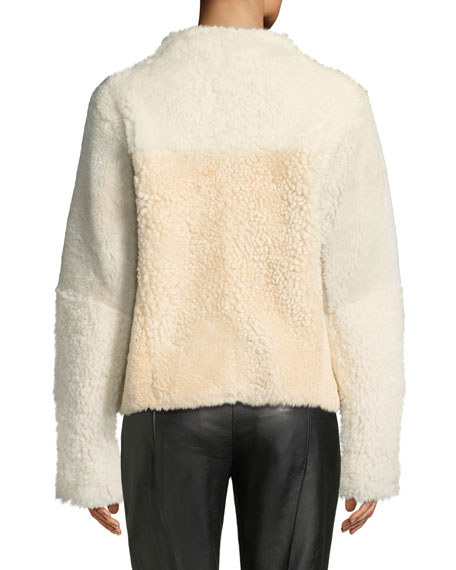 Cole Haan Asymmetric Shearling Fur Jacket