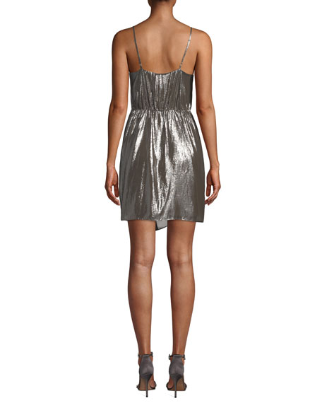 Cami NYC Tori Metallic Twist-Front Cocktail Dress