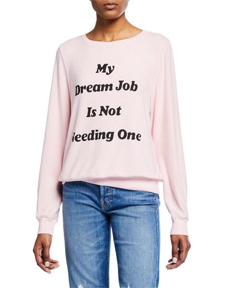 WILDFOX Dream Job Crewneck Pullover Sweater