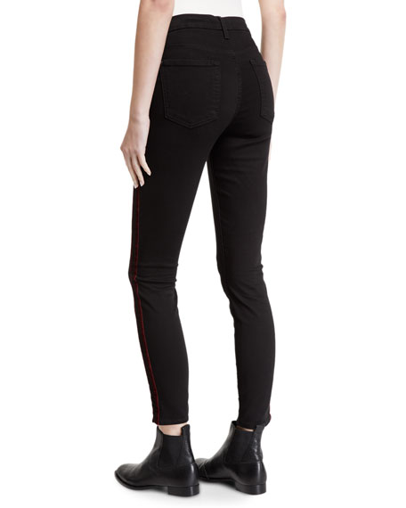 Image 2 of 3: 7 for all mankind Mid-Rise Ankle Skinny with Velvet Side Stripes