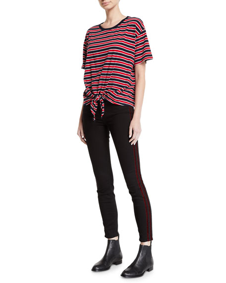 Image 3 of 3: 7 for all mankind Mid-Rise Ankle Skinny with Velvet Side Stripes