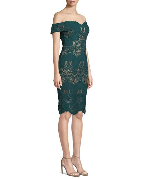 Ryse Alex Off-Shoulder Lace Cocktail Dress