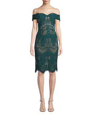 f90a2d36555d Contemporary Off the Shoulder Dresses at Neiman Marcus