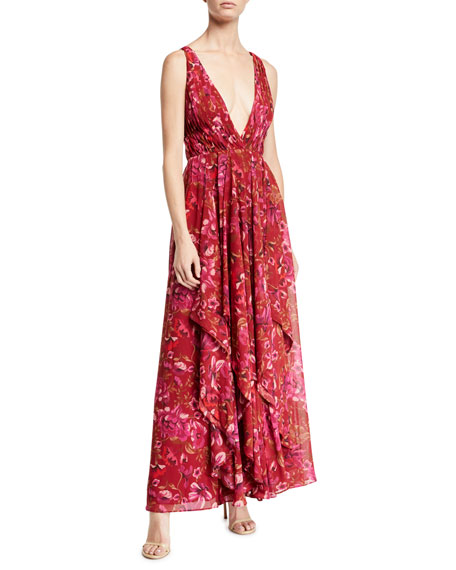 Fame and Partners The Lana Floral Light Georgette Dress
