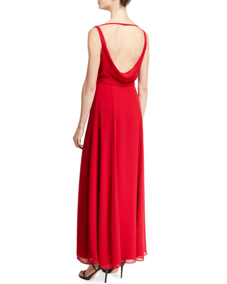 Fame and Partners The Dinah Cowl-Back Sleeveless Dress