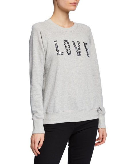Sundry Love Sequined Raglan Pullover Sweater