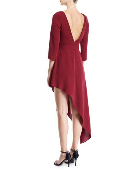 af32cd3f7f9 Image 2 of 2  Donna Mizani Iva Asymmetric Belted Dress