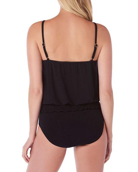 Magicsuit Plus Size Justina Smocked Tankini Swim Top