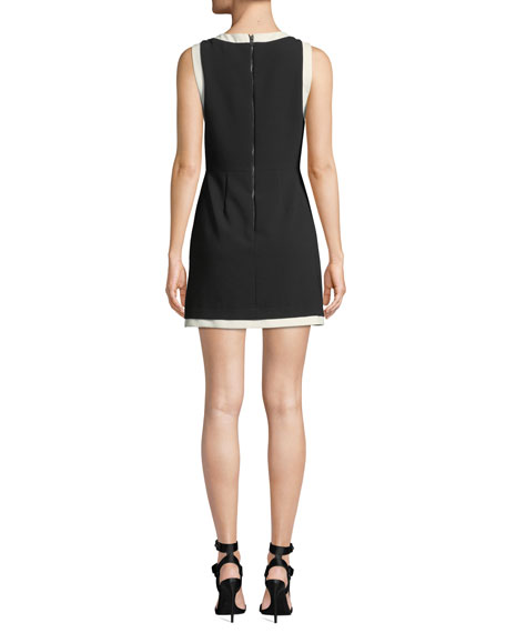 Alice + Olivia Truly Banded-Neck Fitted Dress