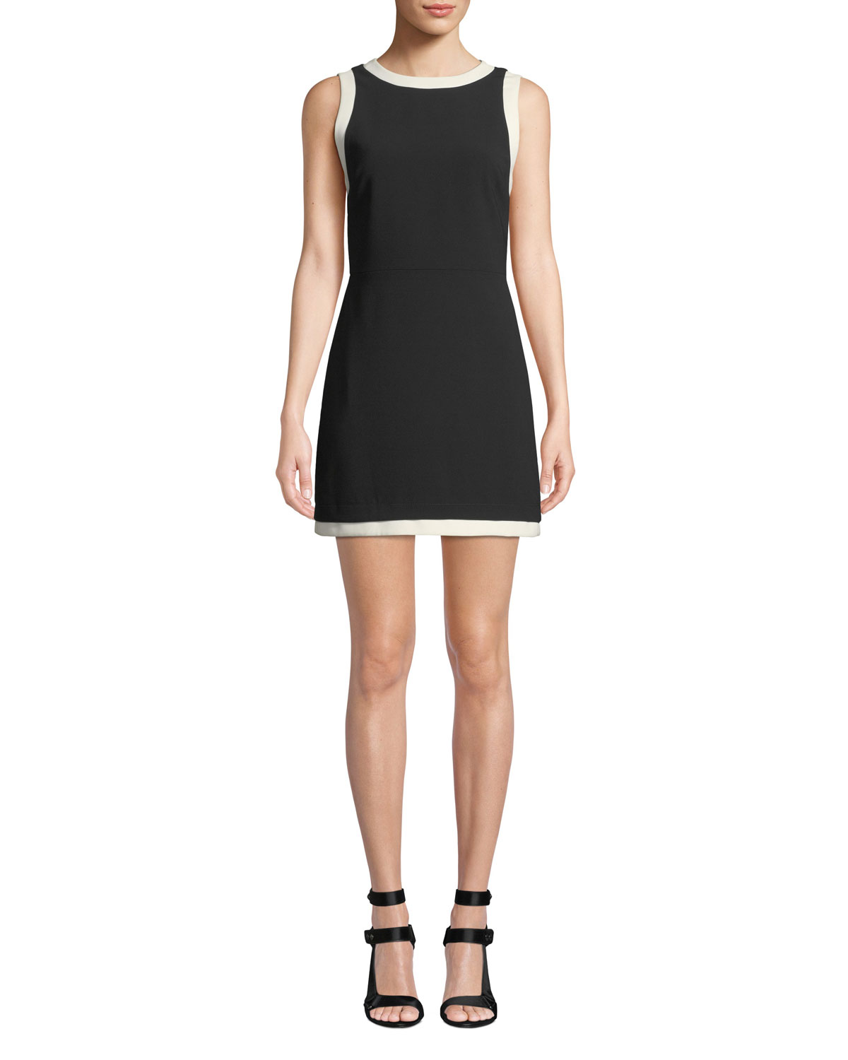 2c898fd871b Alice + Olivia Truly Banded-Neck Fitted Dress