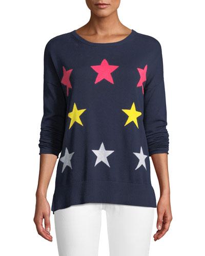 Plus Size Star Struck Long-Sleeve Sweater