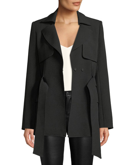 Badgley Mischka Collection Belted Trench Jacket