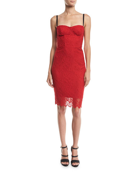 Milly Sweetheart Italian Stretch Lace Dress