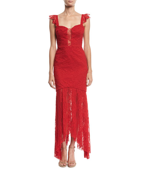Milly Melissa Italian Stretch Lace Body-Con Gown