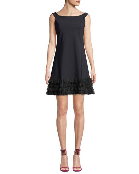 Chiara Boni La Petite Robe Rigmor 3D-Hem Scoop-Neck Dress