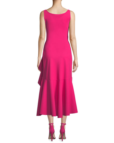 Chiara Boni La Petite Robe Flounce-Ruffle Sleeveless Dress