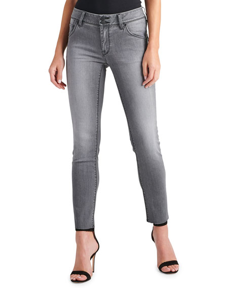 Image 1 of 3: Collin Raw-Hem Ankle Skinny Jeans