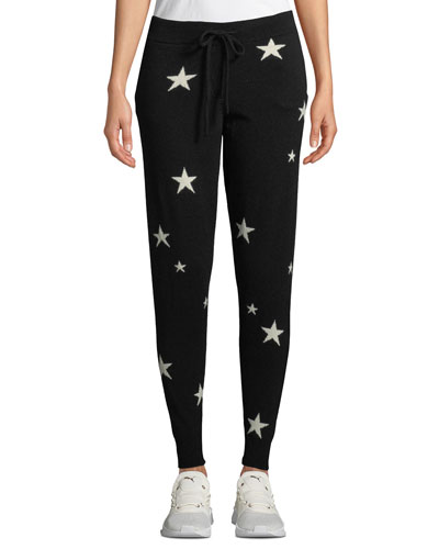 Star-Intarsia Cashmere Track Pants