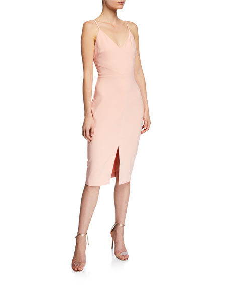 Likely Brooklyn Slit-Front Slip Dress